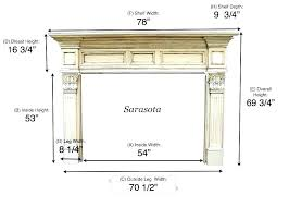 average height of fireplace mantel how