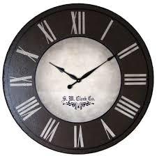 office clocks. image of black large wall clocks office