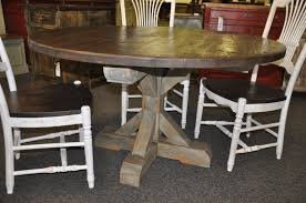 tree base custom pine round stacked pedestal table