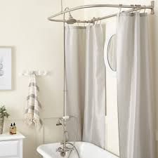 gooseneck clawfoot tub shower conversion kit d style shower ring with hand shower