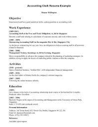 Payroll Clerk Resume Nardellidesign Com