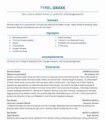 General Resume Outline General Worker Resume Sample Resumes Misc Livecareer