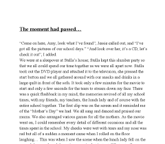 the moment had passed our school farewell party gcse english  document image preview