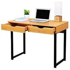 amazon com langria modern computer desk workstation with drawers