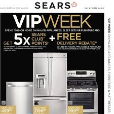 Sears Kitchen Furniture Sears Weekly Flyer Major Appliances Furniture Mattresses