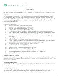 Resume Accounts Payable Accounts Receivable Resume Accounts Amazing Accounts Payable Job Description Resume