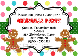 Christmas Birthday Party Invitations Kids Christmas Party Invitation