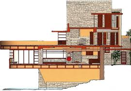 Falling Water Floor Plan Gallery  Home Fixtures Decoration IdeasFalling Water Floor Plans