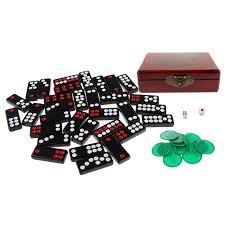 Homyl Chinese Pai Gow Paigow Tiles Set Casino Domino Games For Gambling Lovers Toy