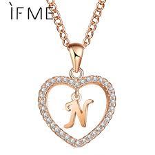 Beste Koop ALS ME <b>Love Heart</b> Crystal Goud Zilver Kleur N Brief ...