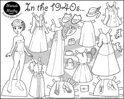 Small Picture 71 best Paper dolls to color images on Pinterest Vintage paper