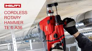 hilti cordless tools. introducing the hilti cordless rotary hammer drill te 6-a36 tools