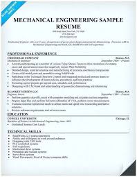 Resume For Mechanical Engg Experienced Engineer Resume Mechanical Engineer Resume Samples