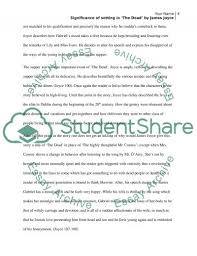 significance of setting in the dead by james joyce essay  james joyce essay example text preview