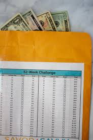 52 Week Money Challenge Free Printable To Save 1 378 In