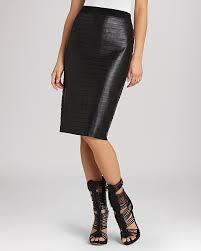 bcbgmaxazria pencil skirt faith faux leather