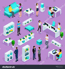isometric office furniture vector collection set people business stock 1060350536 collection16 vector