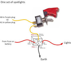 inline toggle switch scooterotica 12V LED Wiring Diagram Spotlight Wiring Diagram With Relay #31