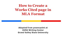 what is a works cited page how to create a works cited page in mla format ppt video online