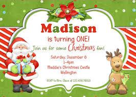 Christmas Birthday Party Invitations Christmas Birthday Party Invitation Breakfast With Santa Christmas