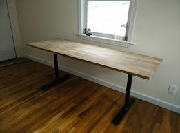 picture of butcher block countertop table ikea hack
