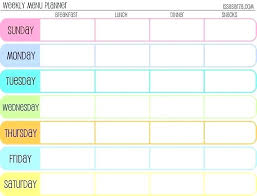 monthly meal planner template weekly meal planner excel monthly planning calendar template excel
