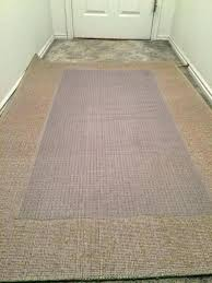 carpet on rug over next place the vinyl runner upside down and center it area pad