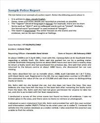 Police Reports Examples Sample Accident Incident Report 6 Examples In Pdf Word