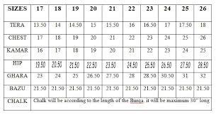 Burqa Size Chart Rabwah Is Online Burqa Abaya Hijab Niqab Rabwah Girls Niqab