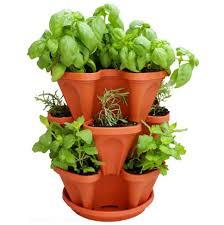 indoor outdoor stacking herb garden planter