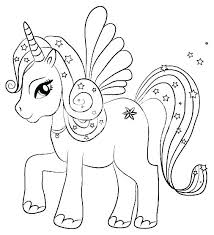 Coloring Pages Unicorns Rainbow Coloring Template Unicorn Coloring