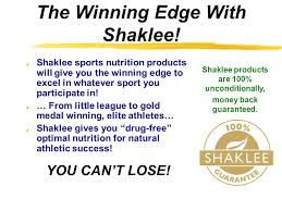 the winning edge with shaklee