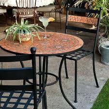 rectangular tile furniture elegant tiled garden tables 21 best solutions of c coast terra cotta mosaic bistro table