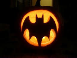 simple Batman pumpkin will take you just a couple of minutes