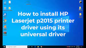 Hp p2015 printer issue on windows 7 64 bit os. Download Hp Laserjet P2015 P2015dn Driver