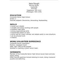 Resume Template For High School Graduate With No Work Experience ...