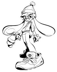 Splatoon 2 Coloring Sheet Splatoon Art Coloring Pages Color