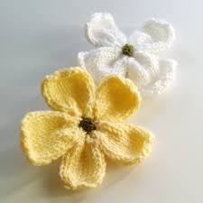 Knitted Flower Pattern Delectable Knitting Patterns Galore Knitted Dogwood Blossoms