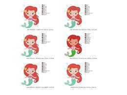 Ffa Logo Embroidery Design Princess Ariel Fill Stitch Machine Embroidery Design