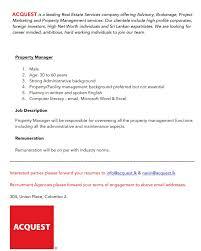 property manager best job site in sri lankacvlk real estate property manager job description