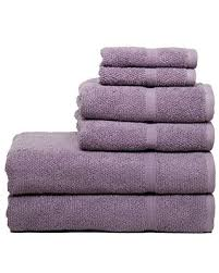 Deals on Chortex Ivy Collection Rice Effect 6pc Towel Set, Set of 6, Heather