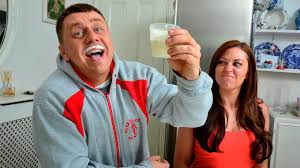 Breast drinking husband milk