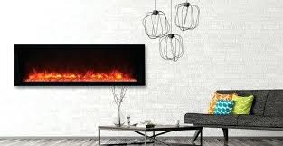 50 inch electric fireplace recessed bi full frame room