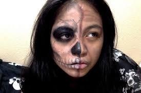 skeleton makeup half skull 2