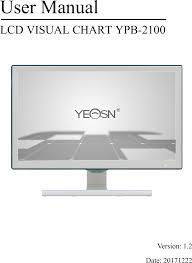 X13000001 Lcd Visual Chart User Manual Chongqing Yeasn