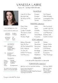 Curriculum Vitae Vanessa Labrie