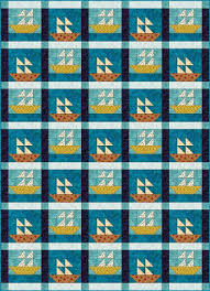 Quilt Inspiration: Free Pattern Day: Sailboats & Sailboat quilt block, free pattern by Janet Wickell at The Spruce Adamdwight.com