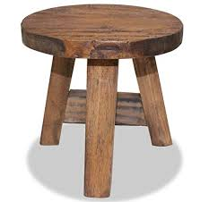 Small Rustic Side Table <b>Solid</b> Wood Furni- Buy Online in Cambodia ...