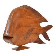 monumental brazilian wood carving of a fish 1 brazilian wood furniture