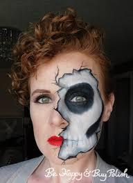 ed skeleton makeup be happy and polish